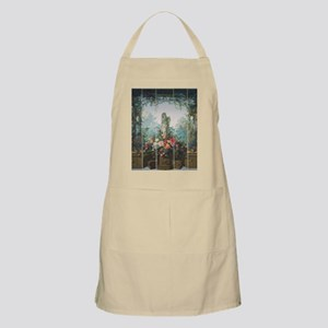 antique vintage garden painting Apron