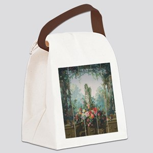 antique vintage garden painting Canvas Lunch Bag