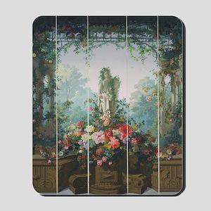 antique vintage garden painting Mousepad