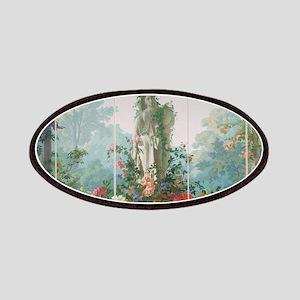 antique vintage garden painting Patch