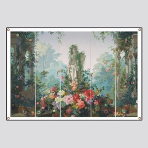 antique vintage garden painting Banner