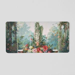 antique vintage garden pain Aluminum License Plate