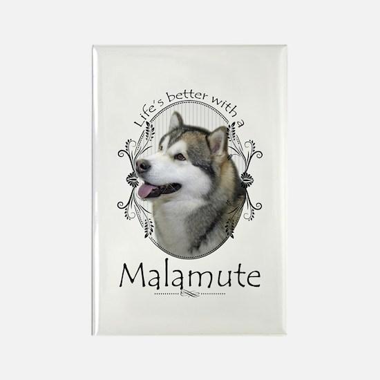 Life's Better Malamute Magnets