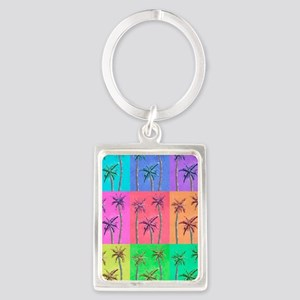 Palm Trees Portrait Keychain