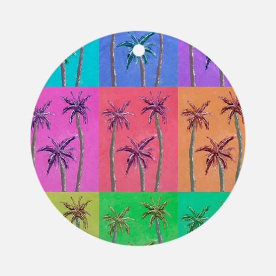 Palm Trees Round Ornament