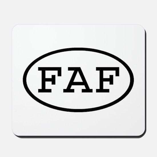 FAF Oval Mousepad