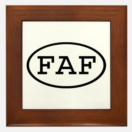 FAF Oval Framed Tile