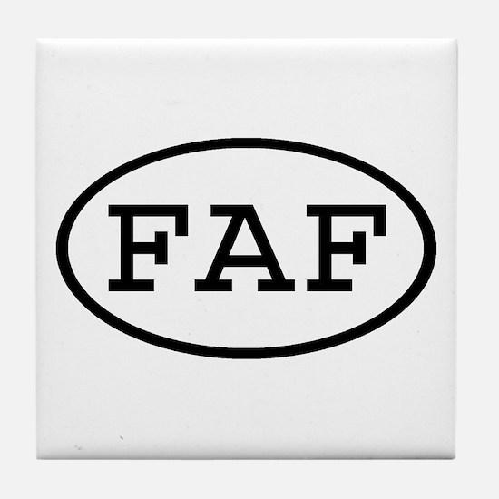 FAF Oval Tile Coaster