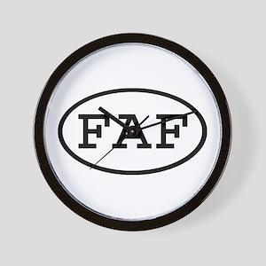 FAF Oval Wall Clock