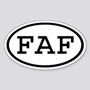 FAF Oval Oval Sticker