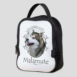 Life's Better Malamute Neoprene Lunch Bag