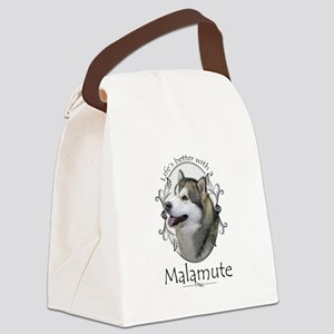 Life's Better Malamute Canvas Lunch Bag