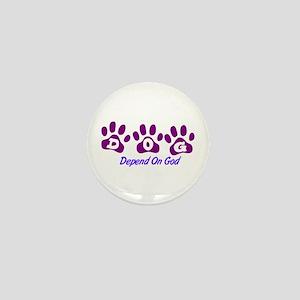 Purple DOG Mini Button