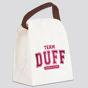 Pink Team Duff Canvas Lunch Bag