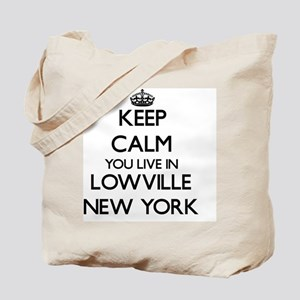 Keep calm you live in Lowville New York Tote Bag