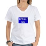 'Chemo Kid' Women's V-Neck T-Shirt