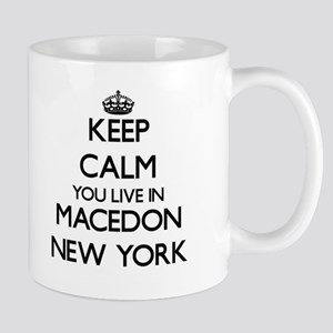 Keep calm you live in Macedon New York Mugs
