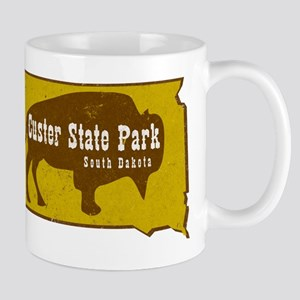 Custer State Park Bison Large Mugs