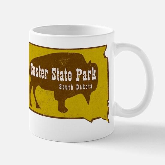 Custer State Park Bison Large Mugs