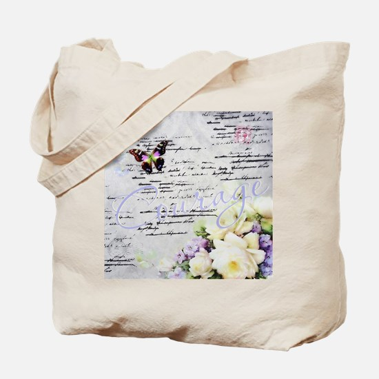 Funny Purple butterfly Tote Bag