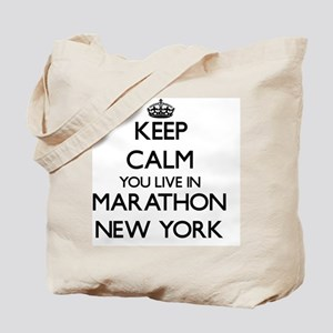 Keep calm you live in Marathon New York Tote Bag