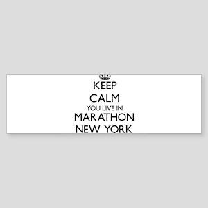 Keep calm you live in Marathon New Bumper Sticker