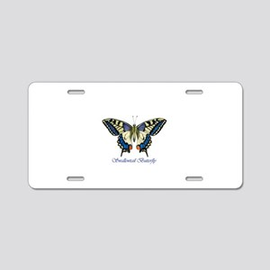 Swallowtail butterfly water Aluminum License Plate