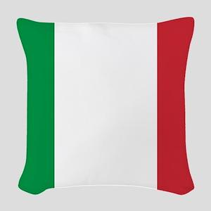 Italian Flag Woven Throw Pillow