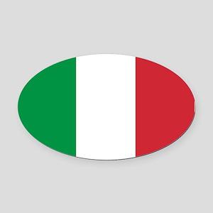 Italian Flag Oval Car Magnet