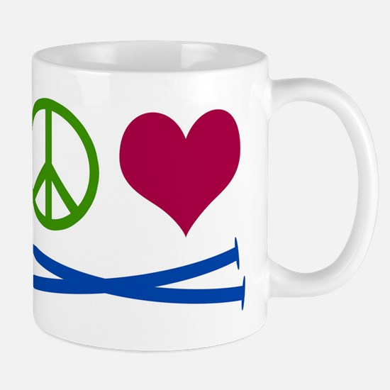Symbols: Peace, Love, Knit Mugs