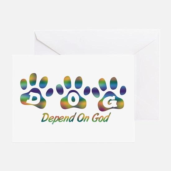 Tiedye DOG Greeting Card