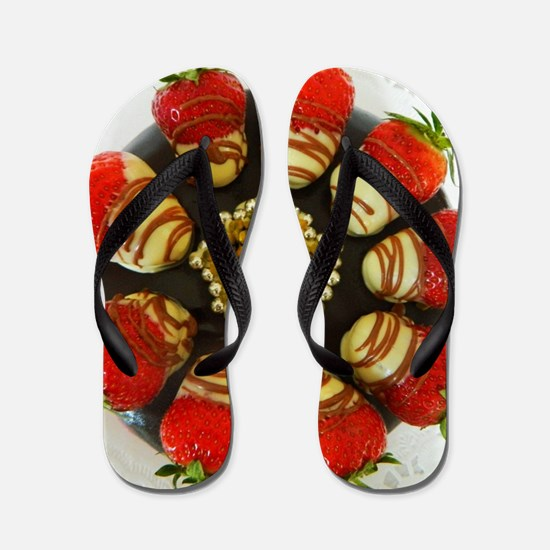 chocolate covered strawberries Flip Flops