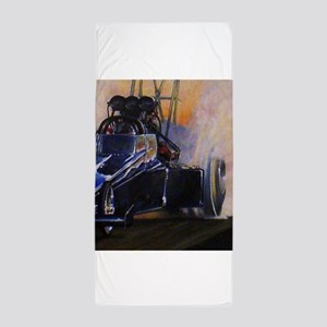 Auto Racing dragster Beach Towel