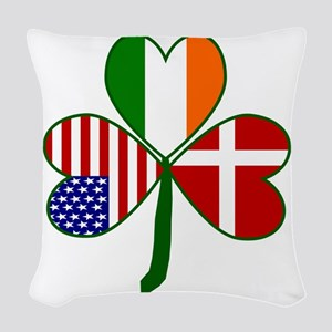 Danish Shamrock Woven Throw Pillow