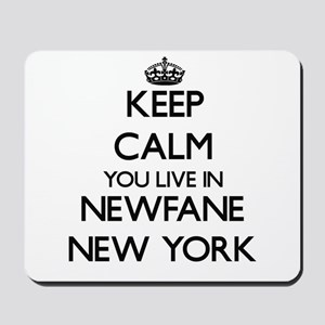 Keep calm you live in Newfane New York Mousepad