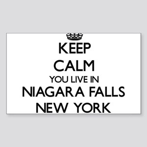 Keep calm you live in Niagara Falls New Yo Sticker