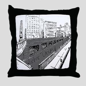 Wacker Drive Throw Pillow