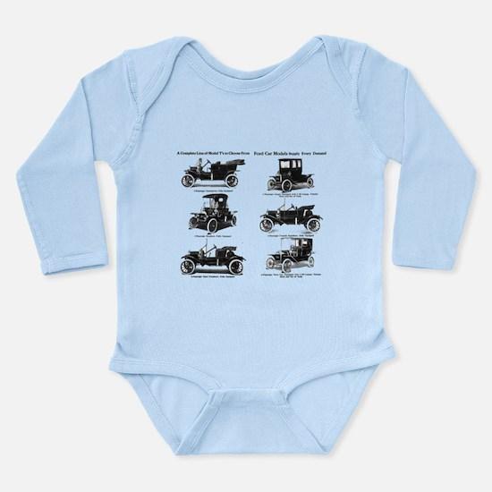 Cute 1911 Long Sleeve Infant Bodysuit