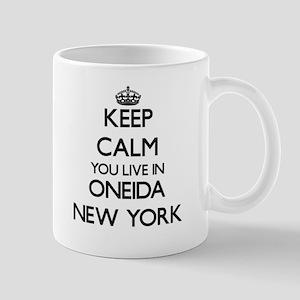 Keep calm you live in Oneida New York Mugs