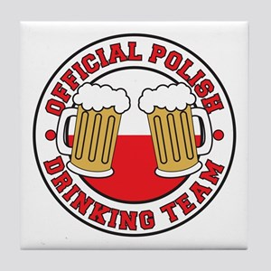 Official Polish Drinking Team Drinkware Tile Coast