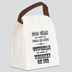 Whiskey on Ice Canvas Lunch Bag