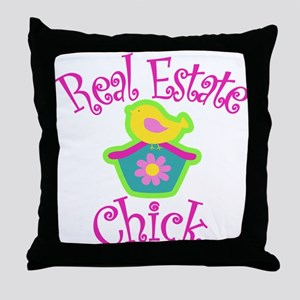 Real Estate Chick Throw Pillow