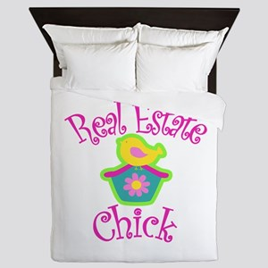 Real Estate Chick Queen Duvet