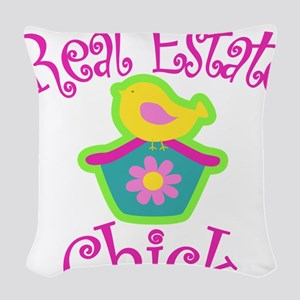 Real Estate Chick Woven Throw Pillow