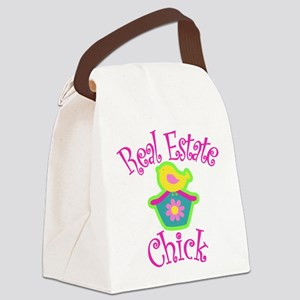 Real Estate Chick Canvas Lunch Bag
