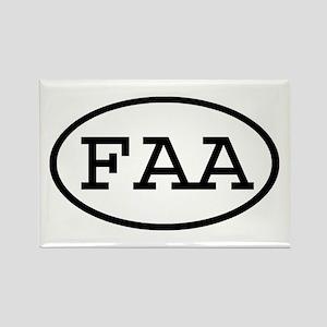 FAA Oval Rectangle Magnet