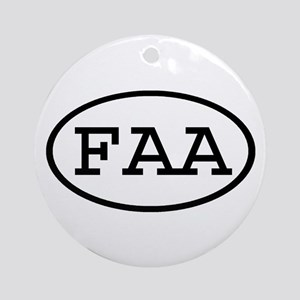 FAA Oval Ornament (Round)