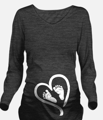 Baby Heart (Maternity) Long Sleeve Maternity T-Shi