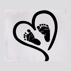 Baby Heart (Maternity) Throw Blanket