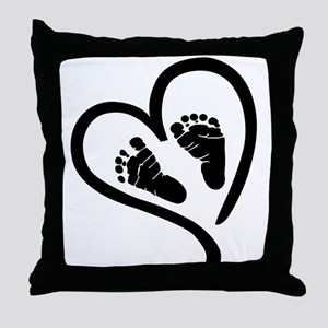 Baby Heart (Maternity) Throw Pillow